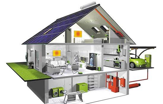 3 etagers hus med solceller